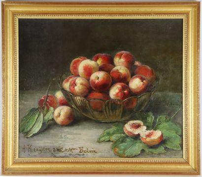 Alexis KREYDER (1839-1912).  Nature morte...