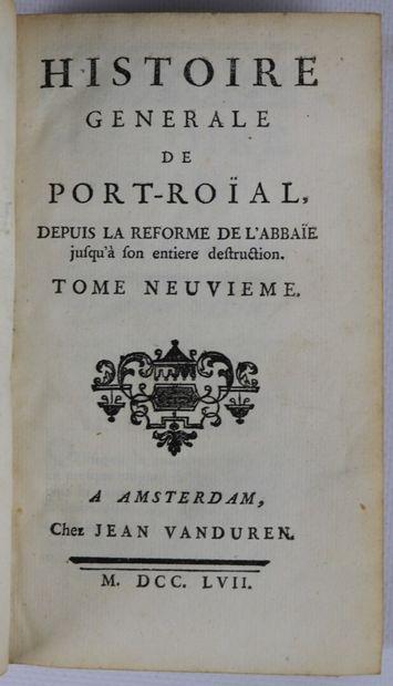 CLÉMENCET]. Histoire générale de Port-Royal,...