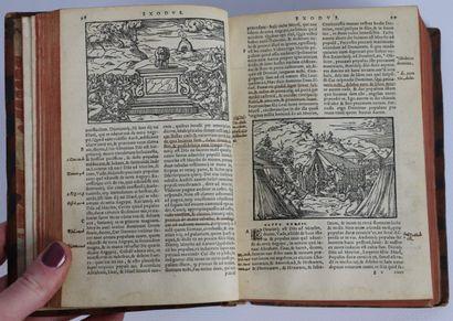 BIBLIA SACRA. Lyon, Jean de Tournes, 1558....