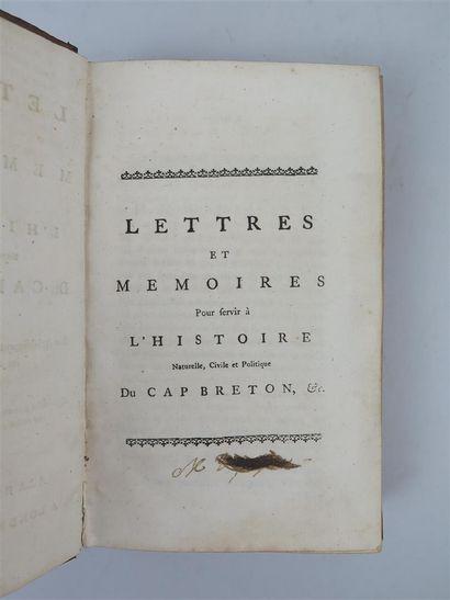 LETTRES ET MEMOIRES POUR SERVIR A L'HISTOIRE...