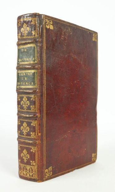 HENNET]. Du divorce. Paris, Desenne, 1789....