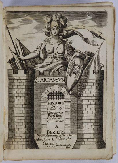 BESSE (G.). Histoire des Comtes de Carcassonne....