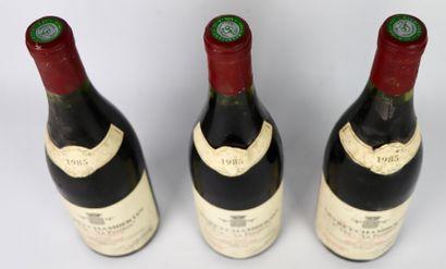 GEVREY CHAMBERTIN 1er CRU LA PERRIERE.  René Galland.  Millésime : 1985.  3 bouteilles,...