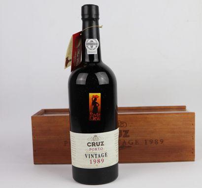 PORTO CRUZ Vintage 1989.  1 bouteille.  En...