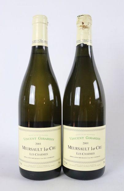 MEURSAULT 1ER CRU LES CHARMES.  Vincent Girardin.  Millésime : 2001.  2 bouteilles...