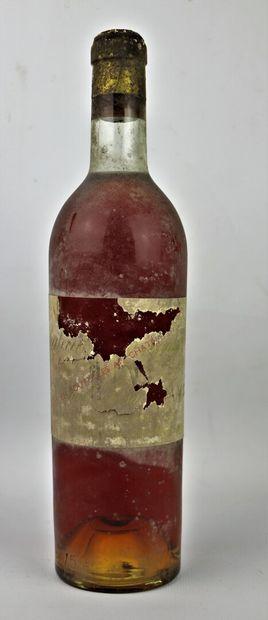 CHATEAU CLIMENS.  Millésime : 1952.  1 bouteille, b.g., étiquette complète mais...