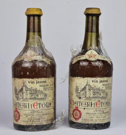 CHATEAU L'ETOILE.  VIN JAUNE.  Millésime : 1986.  2 bouteilles, e.f.s.