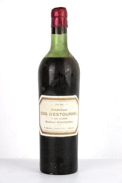 COS D'ESTOURNEL.  Millésime : 1936.  1 bouteille,...