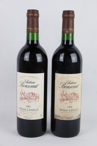 CHATEAU BOUSCAUT.  Millésime : 1998.  2 bouteille,...