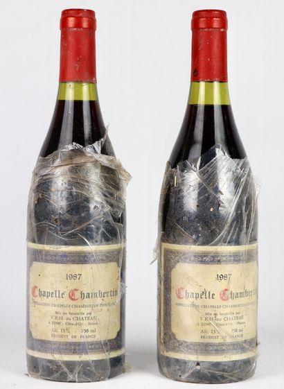 CHAPELLE CHAMBERTIN.  Millésime : 1987.  2 bouteilles