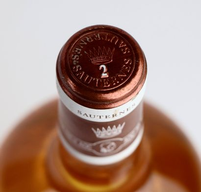 SAUTERNES N°2 DE CHATEAU YQUEM.  Mis en bouteille en 2016. Lots issus de cinq années,...