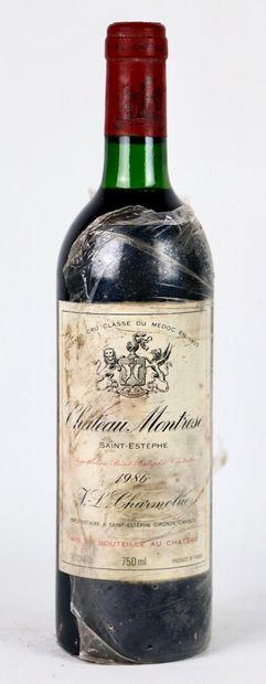 CHATEAU MONTROSE.  Millésime : 1986.  1 bouteille,...
