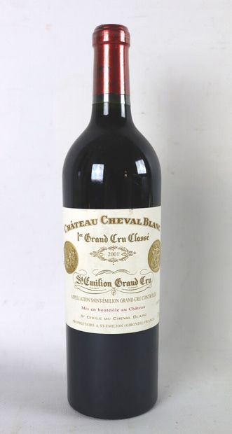 CHATEAU CHEVAL BLANC.  Millésime : 2001....