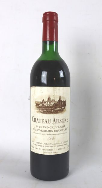 CHATEAU AUSONE.  Millésime : 1986.  1 bouteille,...
