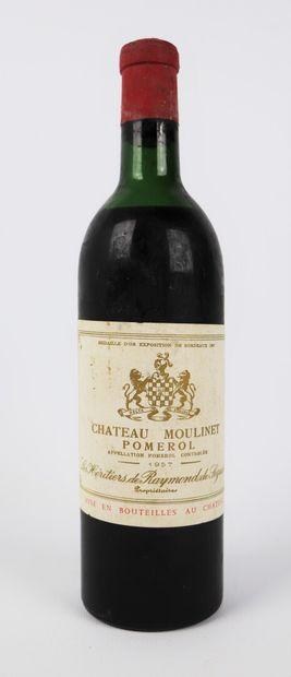 CHATEAU MOULINET.  Millésime : 1957.  1 bouteille,...