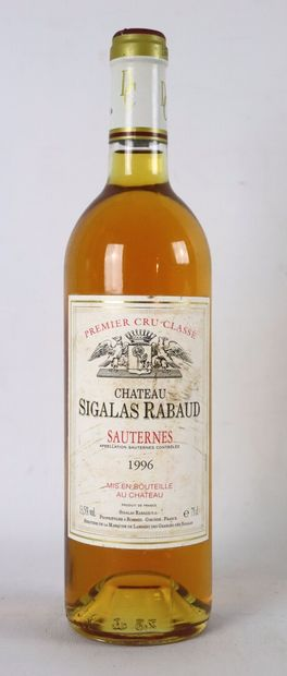 CHATEAU SIGALAS RABAUD.  Millésime : 1996....