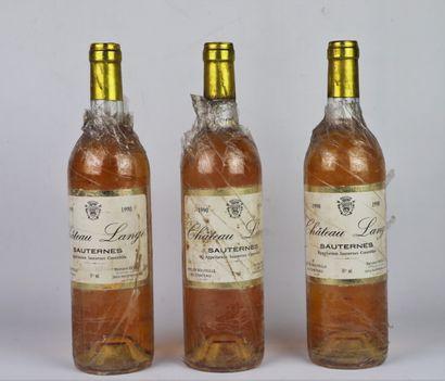CHATEAU LANGE.  Millésime : 1990.  3 bouteilles,...