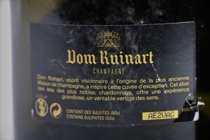 CHAMPAGNE DOM RUINART.  Millésime : 1998.  2 bouteilles