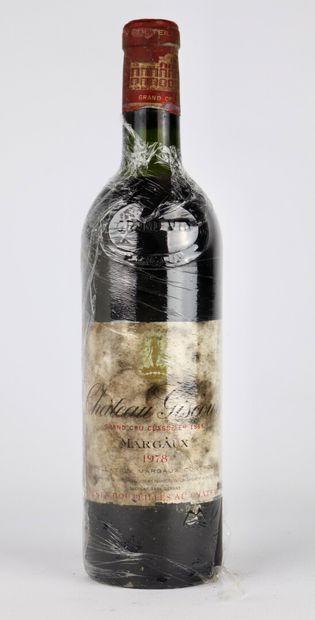CHATEAU GISCOURS.  Millésime : 1978.  1 bouteille,...