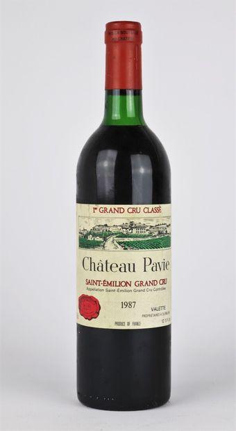 CHATEAU PAVIE.  Millésime : 1987.  1 bouteille,...