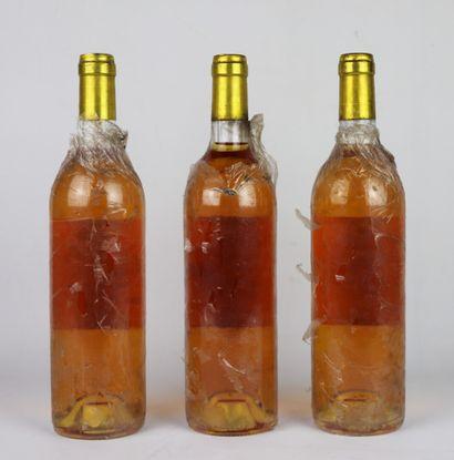 CHATEAU LANGE.  Millésime : 1990.  3 bouteilles, e.t.a.