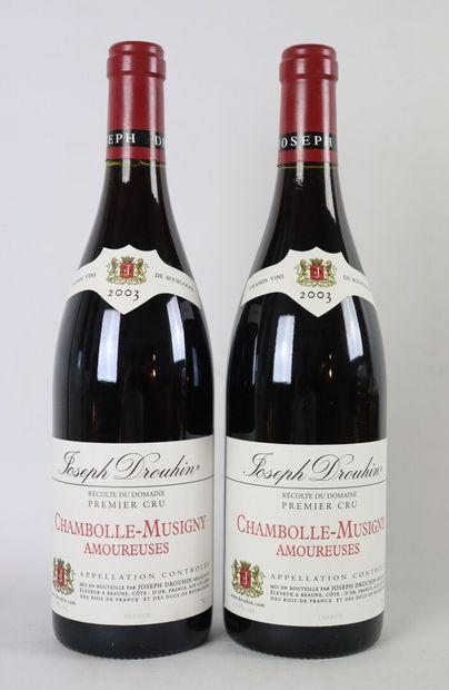 CHAMBOLLE MUSIGNY 1ER CRU.  AMOUREUSES.  Joseph Drouhin.  Millésime : 2003.  2 ...