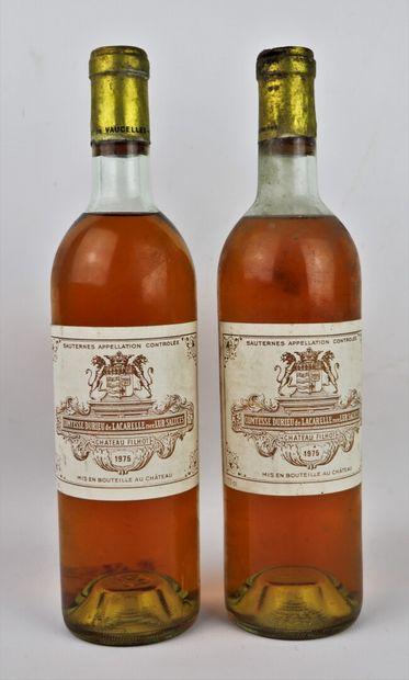 CHATEAU FILHOT.  Millésime : 1975.  2 bouteilles,...