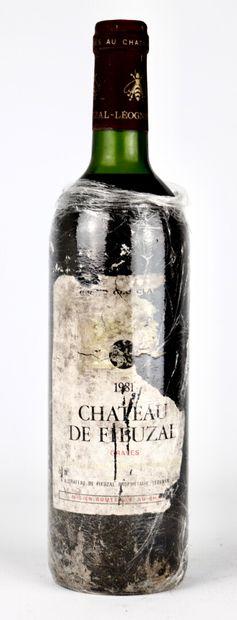 CHATEAU DE FIEUZAL.  Millésime : 1981.  1...