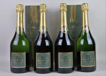 CHAMPAGNE DEUTZ BRUT CLASSIC.  4 bouteilles,...