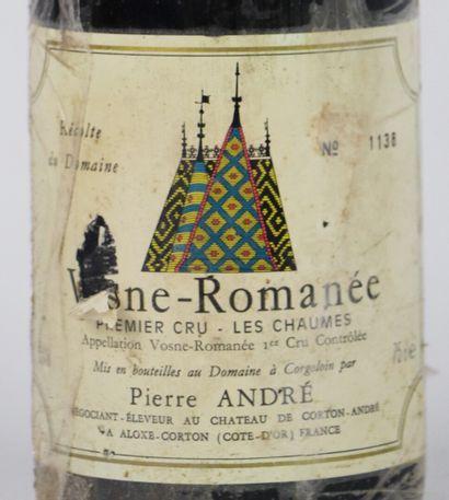 VOSNE ROMANEE 1ER CRU LES CHAUMES.  Pierre André.  Millésime : 1994.  1 bouteille,...
