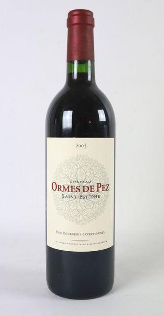 CHATEAU LES ORMES DE PEZ.  Millésime : 2003....