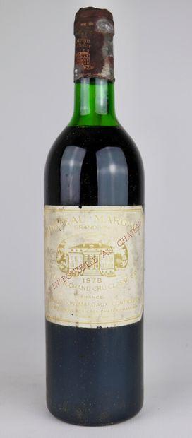 CHATEAU MARGAUX.  Millésime : 1978.  1 bouteille,...
