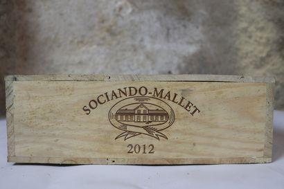 CHATEAU SOCIANDO MALLET.  Millésime : 2012....