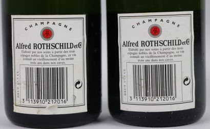 CHAMPAGNE ALFRED ROTHSCHILD.  2 demi-bouteilles