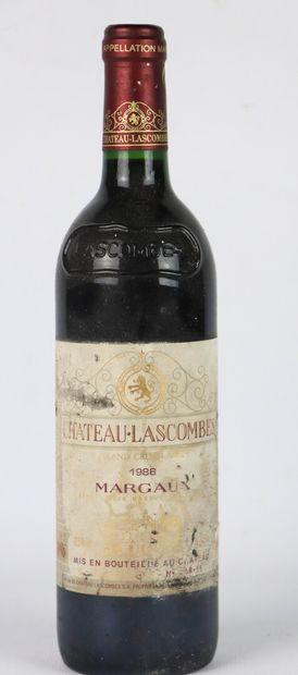 CHATEAU LASCOMBES.  Millésime: 1988.  1 bouteille,...