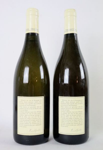 CORTON CHARLEMAGNE GRAND CRU.  Vincent Girardin.  Millésime : 2001.  2 bouteill...