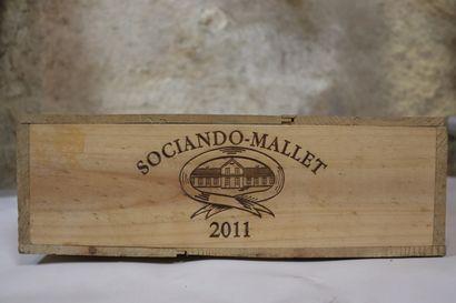 CHATEAU SOCIANDO MALLET.  Millésime : 2011....