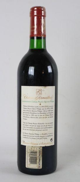 CHATEAU D'ARMAILHAC.  Millésime : 1990.  1 bouteille