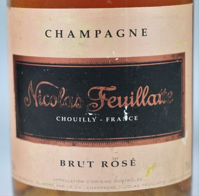 CHAMPAGNE CANARD DUCHENE (2 bouteilles) ET NICOLAS FEUILLATTE ROSE (1 bouteille)....