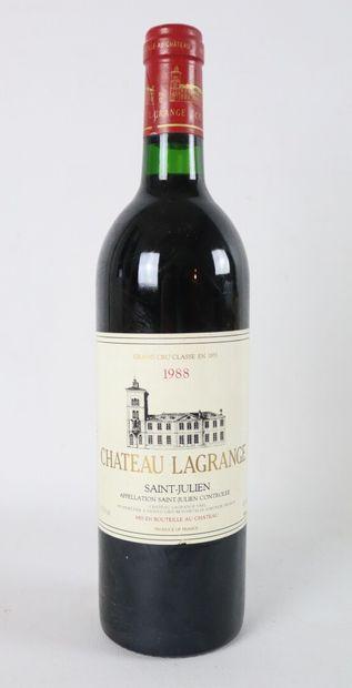 CHATEAU LAGRANGE.  Millésime : 1988.  1 bouteille,...