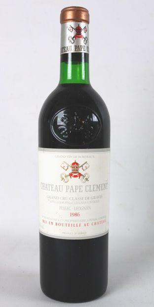 CHATEAU PAPE CLEMENT.  Millésime : 1986....