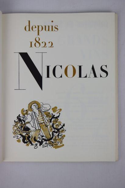 """Ensemble de 3 catalogues """"listes des grands vins"""" des établissements Nicolas pour..."""