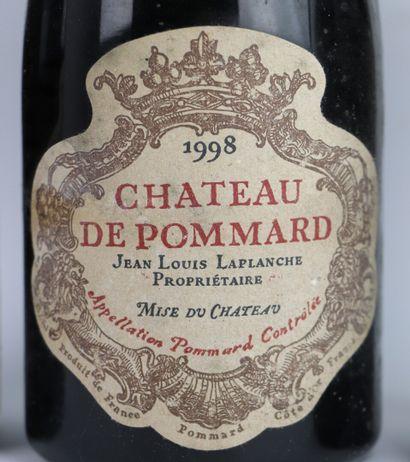 CHATEAU DE POMMARD.  Millésime : 1998.  3 bouteilles, e.t.h.