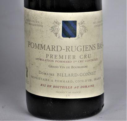 POMMARD RUGIENS BAS, 1er CRU.  Domaine Billard-Gonnet.  Millésime : 2005.  6 bouteilles,...