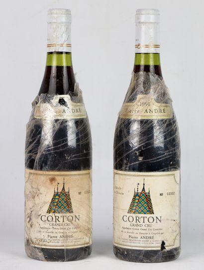 CORTON GRAND CRU.  Pierre André.  Millésime...