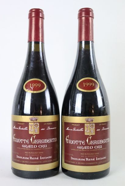GRIOTTE CHAMBERTIN GRAND CRU.  René Leclerc.  Millésime : 1999.  2 bouteilles