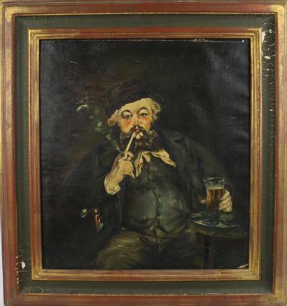 Edouard MANET (1832-1883), d'après.  Le fumeur....