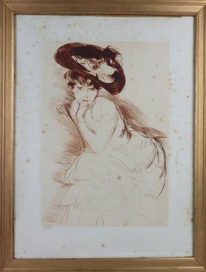 PAUL CESAR HELLEU (1859-1927)  Portrait de...