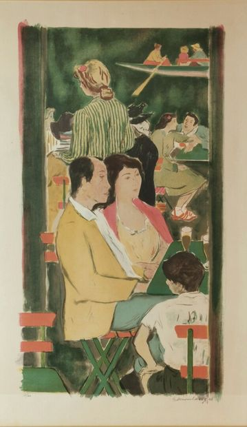 Georges DESSOUSLAVY (peintre suisse, 1898-1952)....