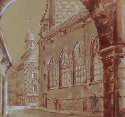 GREUILLET (actif au XXème siècle).  La cathédrale...